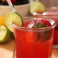 Very Berry and Boozy Raspberry Iced Tea Spritzer