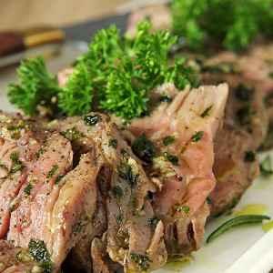 Cut Rib-eye with Olive Oil, Garlic and Herbs (Tagliata)
