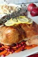 Lemon, Roasted Garlic, and Thyme Roasted Chicken