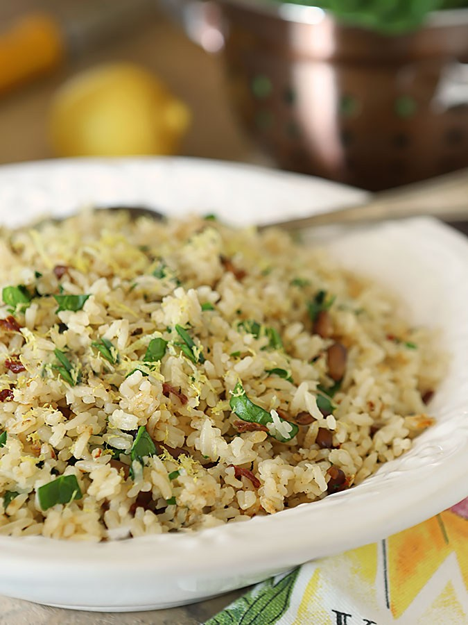 Sun-Dried Tomato and Spinach Rice Pilaf