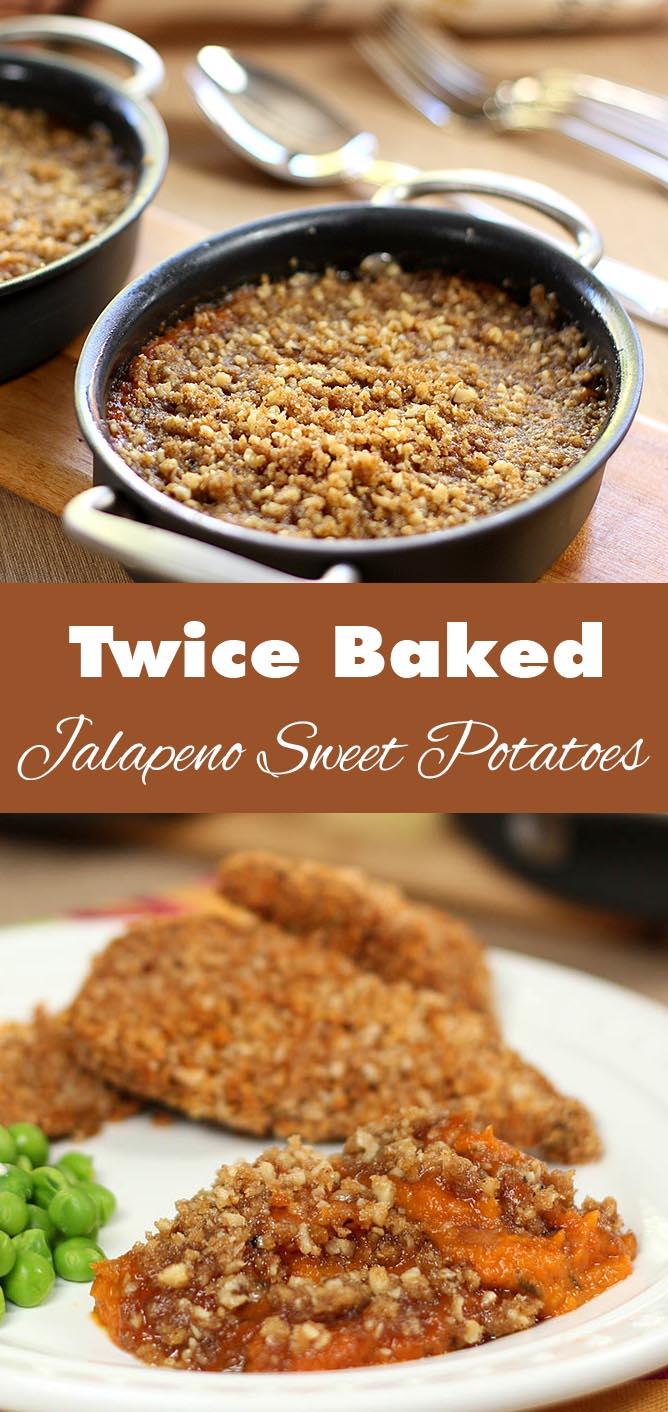 Twice-Baked Jalapeno Sweet Potatoes | Creative Culinary