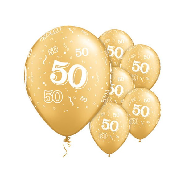 6 ballons Qualatex Or Gold 50 ans  Anniversaires Mariage  CreativeEmotions