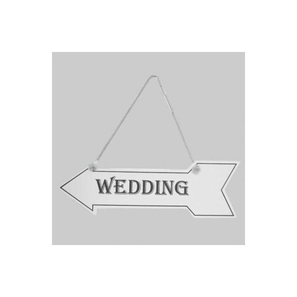 Panneau Directionnel Mariage Wedding Accueil