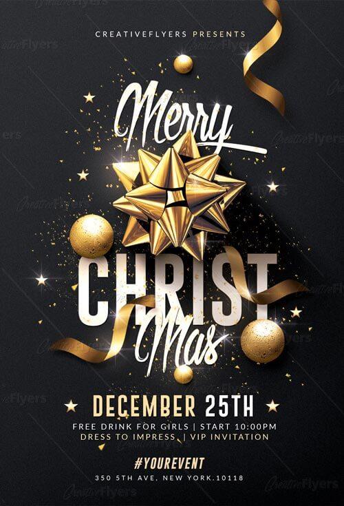 Classy Christmas Flyer Templates Psd Creative Flyers