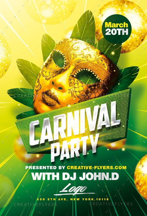 carnival flyer template psd