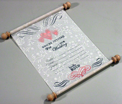 Scroll Like White Unique Wedding Invitation Card That Rolls Up