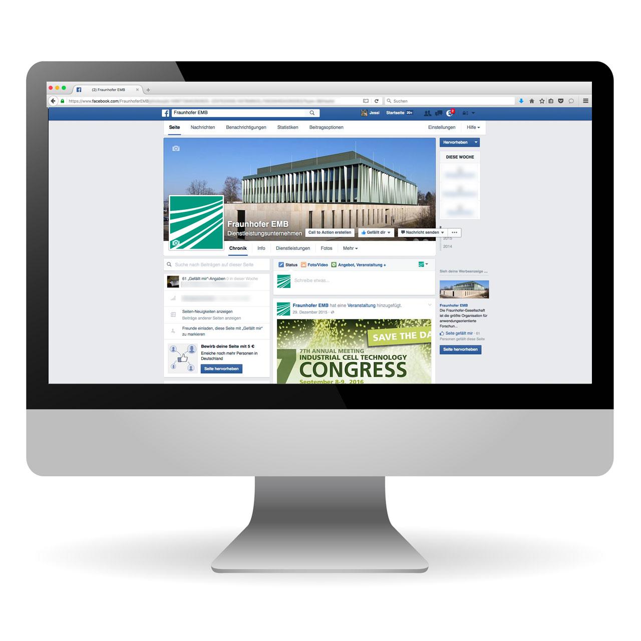 Social Media und Web Auftritte