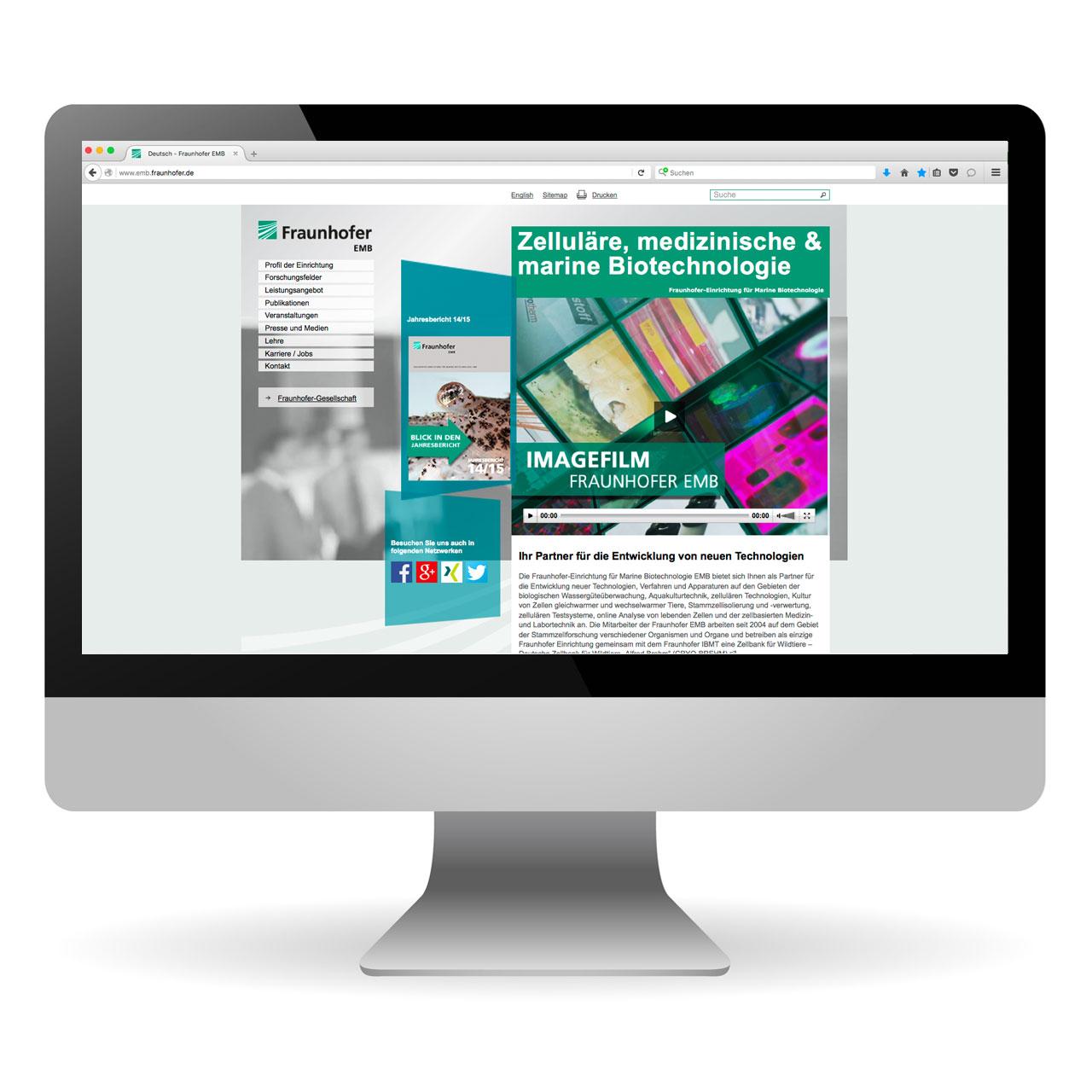 Webseite | Fraunhofer EMB
