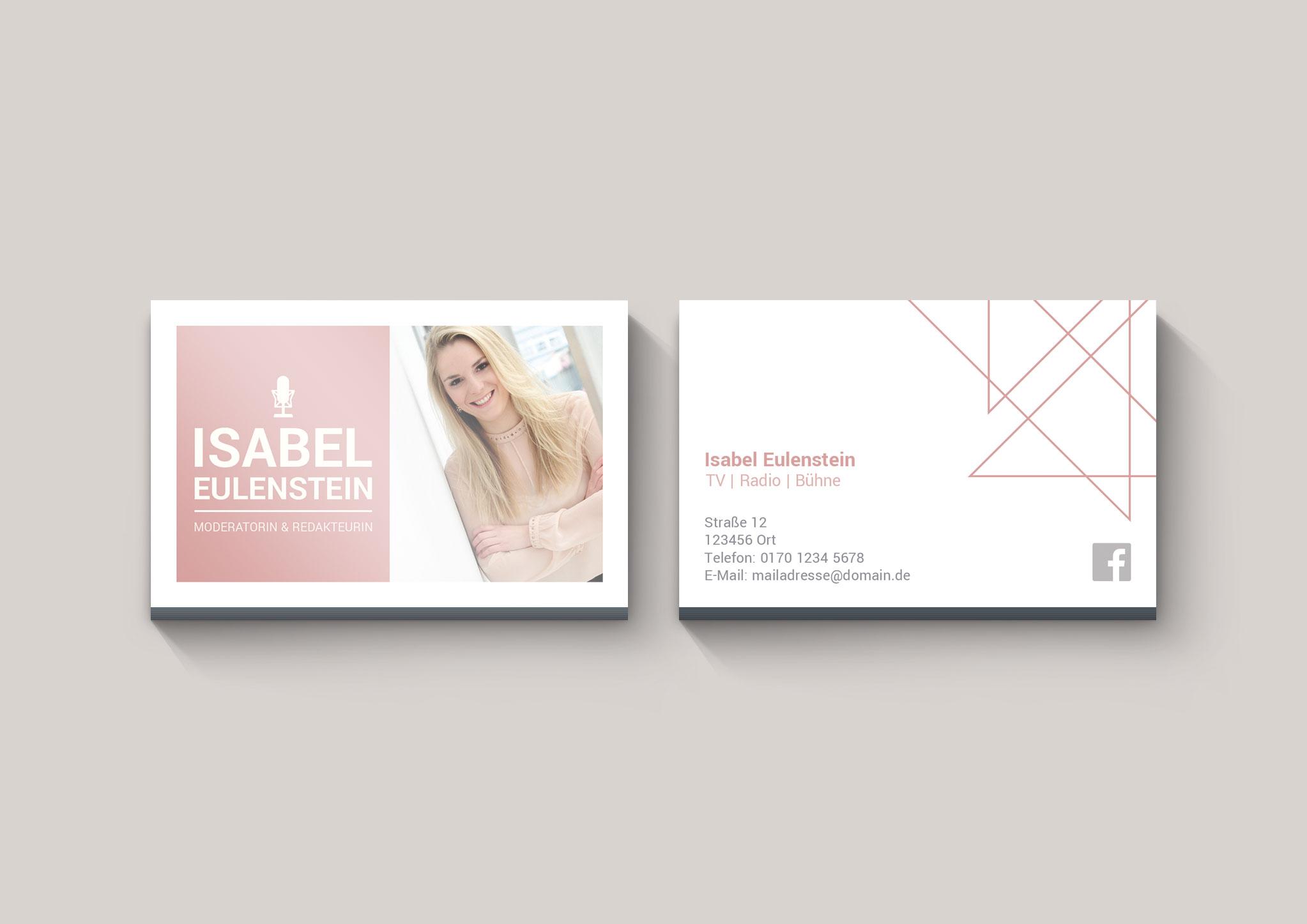 Visitenkarten | Isabel Eulenstein | Moderatorin & Redakteurin