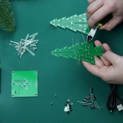 DIY | LED Tannenbaum löten | Weihnachtsdeko Geschenkidee für Technik-Liebhaber | Creative-Material