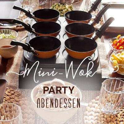 Mini Wok Party Abendessen zu Hause