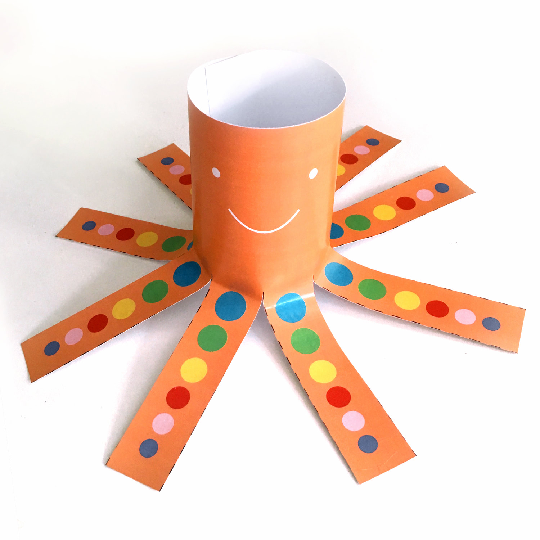 Free Download Octopus Scissor Skills Template For Kids