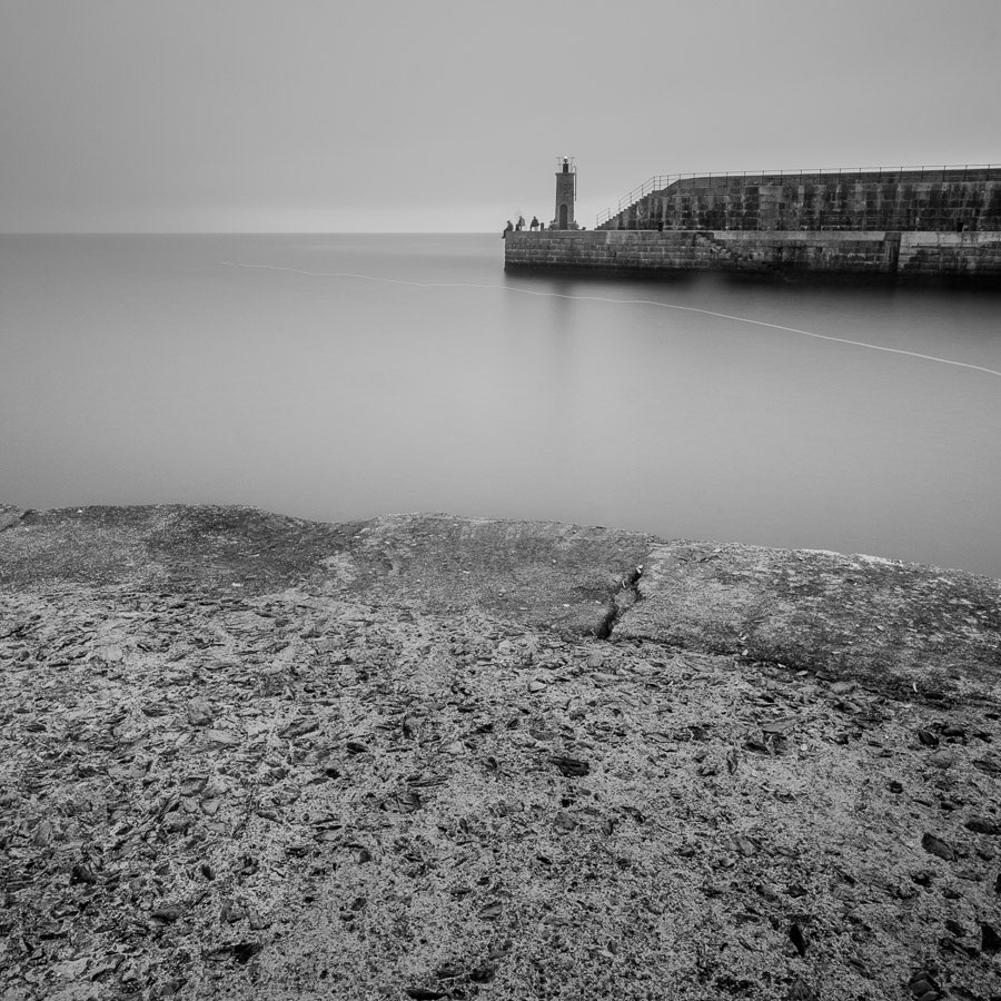 Black and white long exposure seascape taken in Tapia de Casariego, Spain