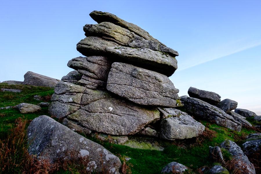 Landscape photo of Sheepstor, Dartmoor, processed in Lightroom