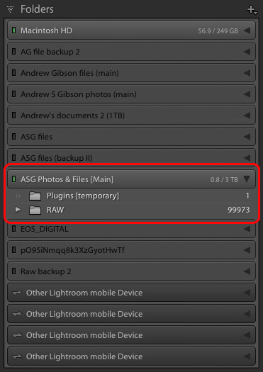 How To Save Folders From Light Room To Hard Drive