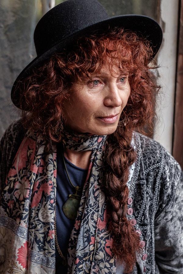 Portrait of woman taken with Fujifilm X-T1 camera