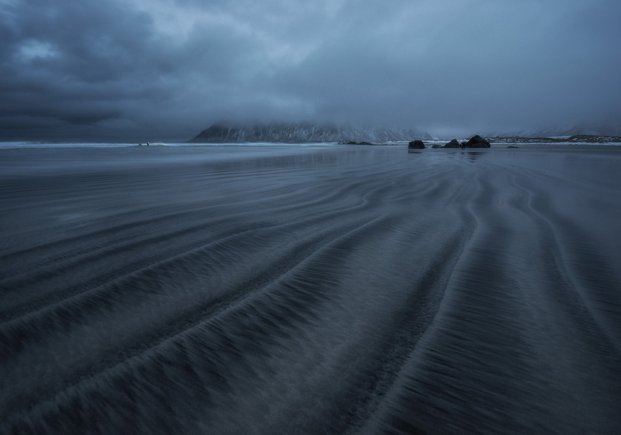 Long exposure photography by the sea