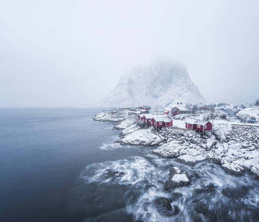 Long exposure photo taken in Lofoten, Norway