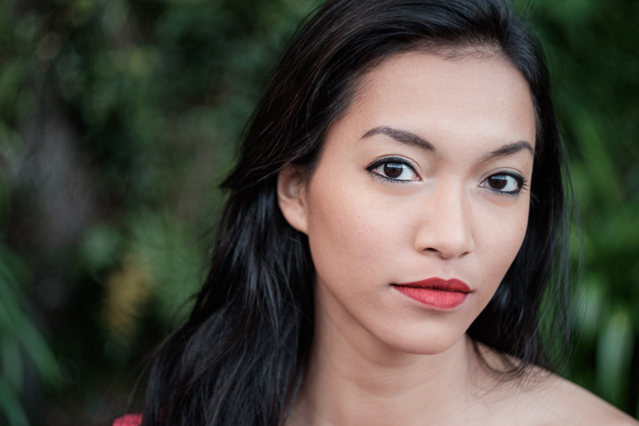 Portrait of Asian woman made with Helios 58mm f2 vintage lens