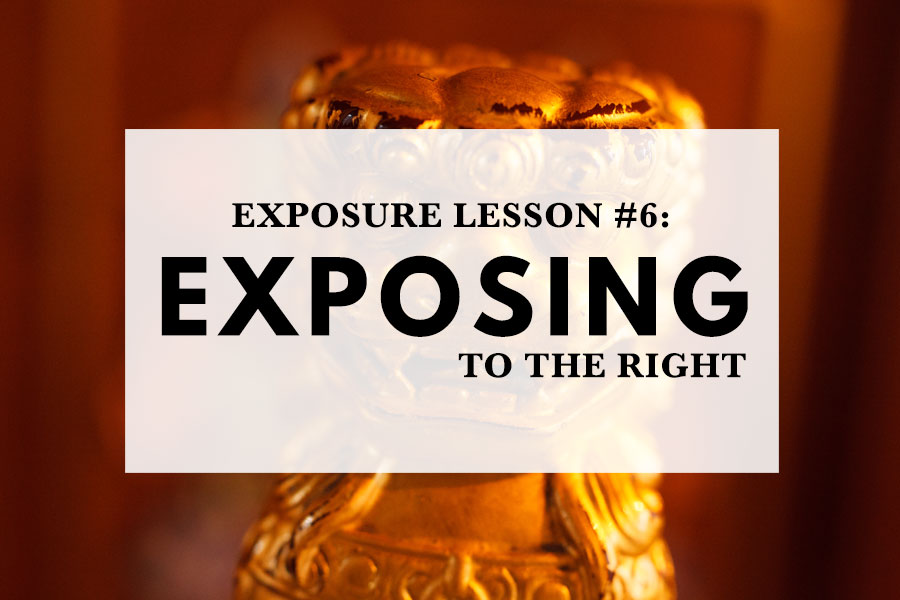 Exposing to the right