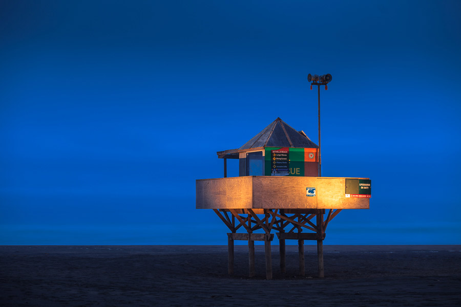 Blue hour seascape