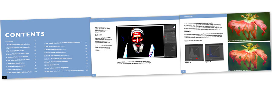 Lightroom Secrets Course Notes ebook inside pages
