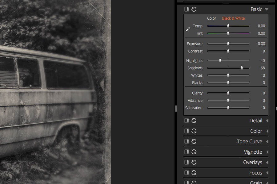 black and white plugins for Lightroom