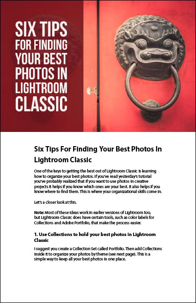 Best photos in Lightroom Classic