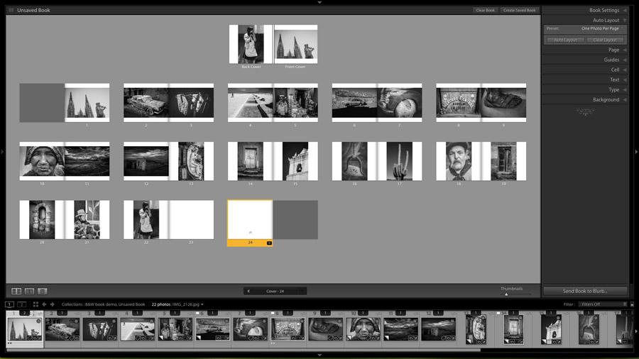 Photo book layout