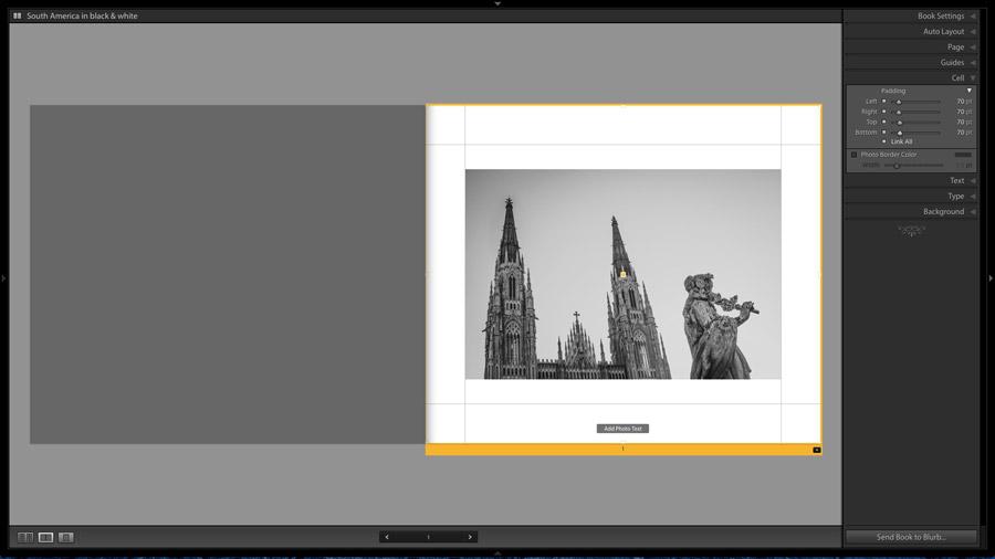 Book module photo with white border