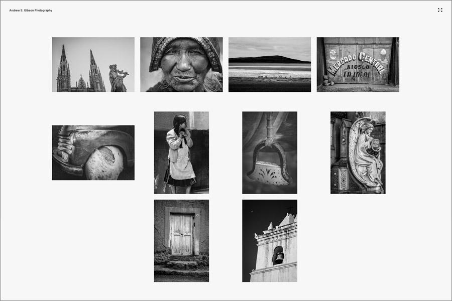 Lightroom Classic Web module gallery
