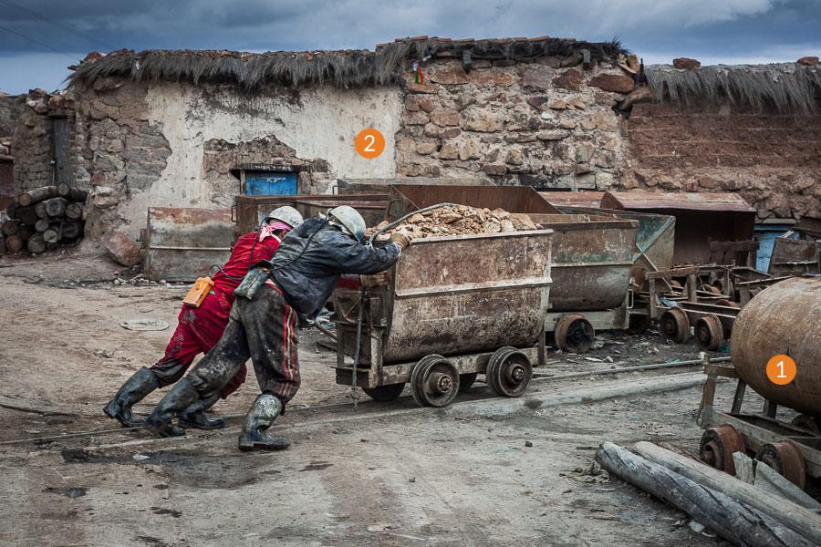 Bolvia documentary photo with layers