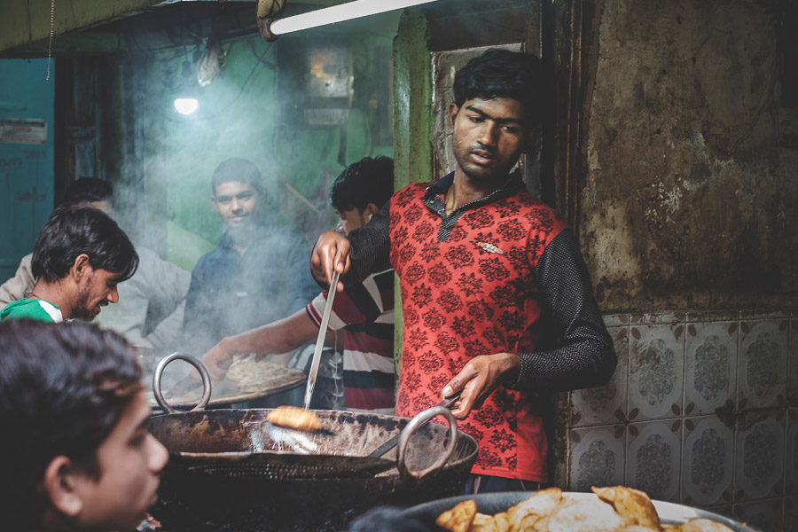 Street photo in India