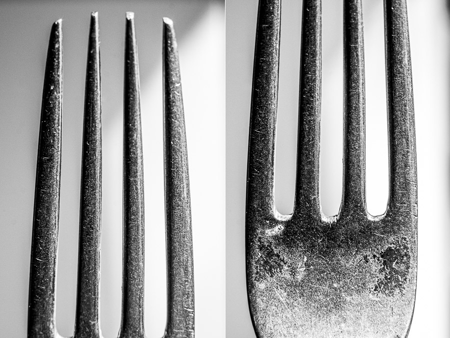 Close up photos of forks