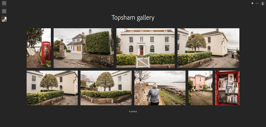 Lightroom for web gallery