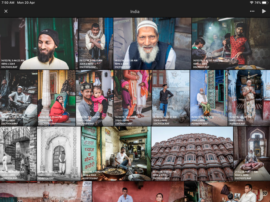 Lightroom for mobile app