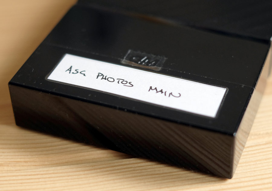 Label your hard drives for photo backup