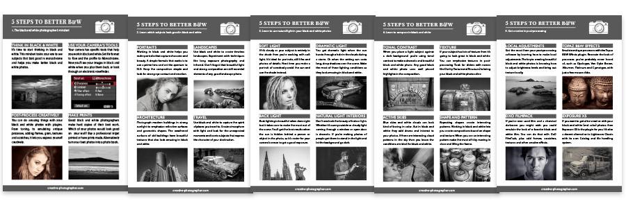 Black & White Photography PhotoTips Cards
