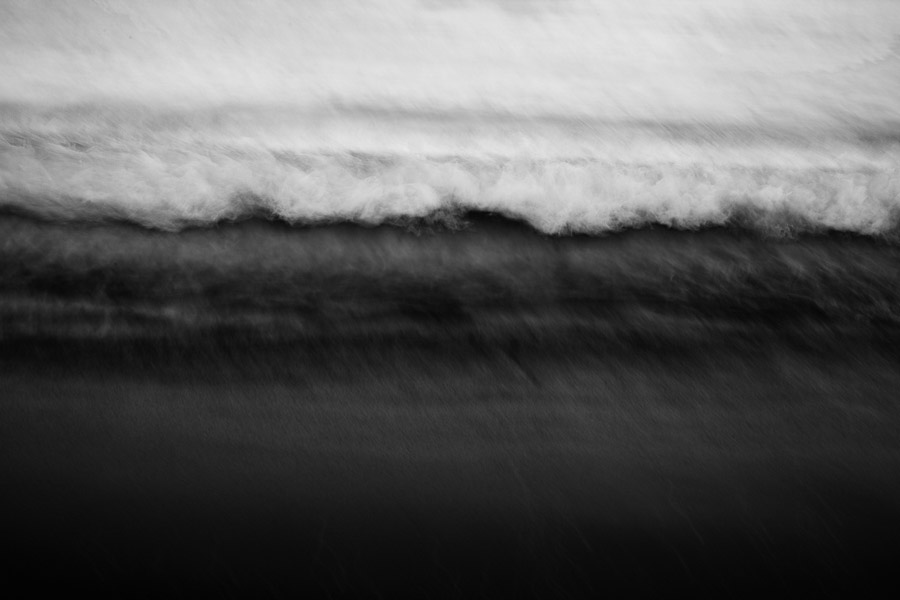 ICM black and white landscape