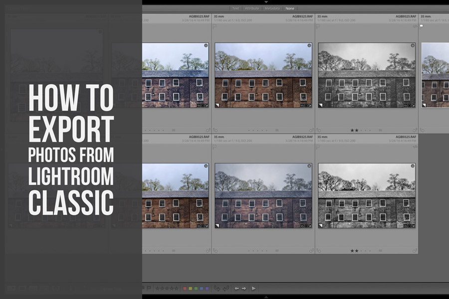 How To Export Photos From Lightroom Classic