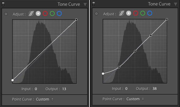Tone Curve panel Lightroom Classic