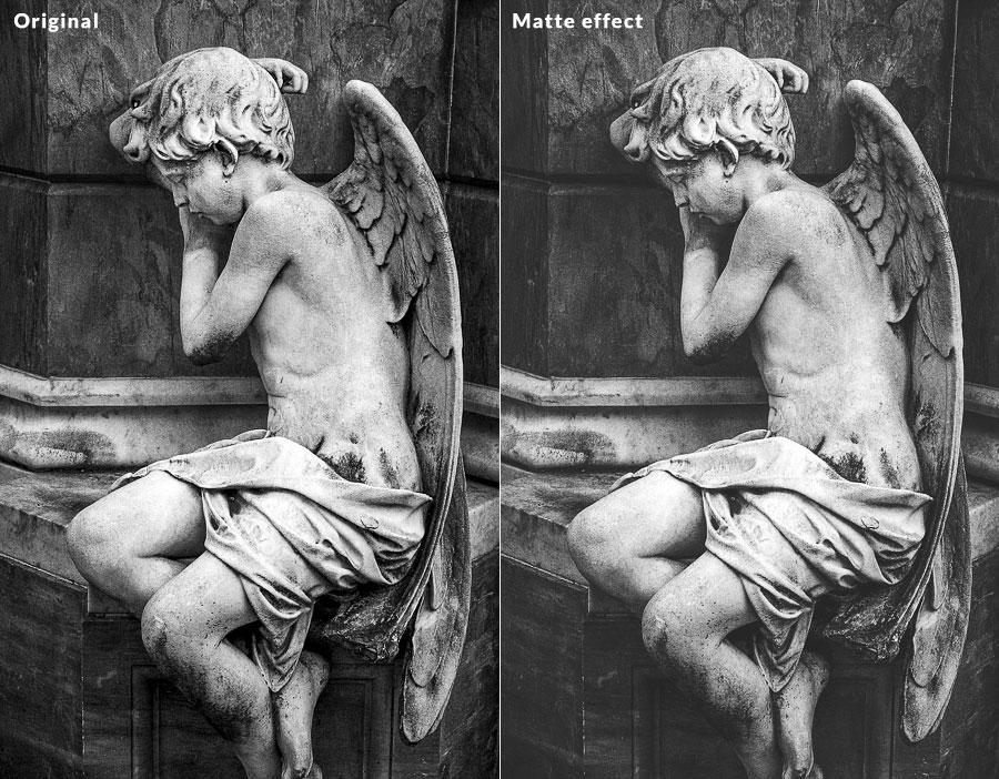 Matte effect