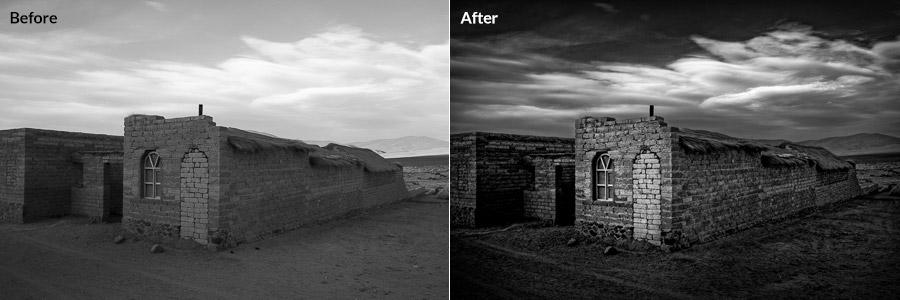 Black and white travel photos