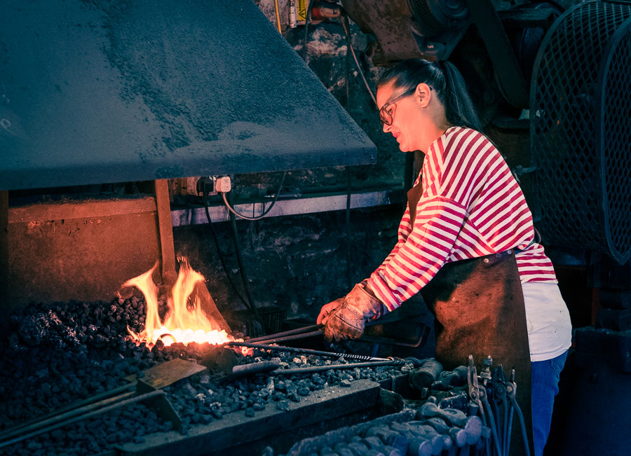 Color graded portrait of blacksmith