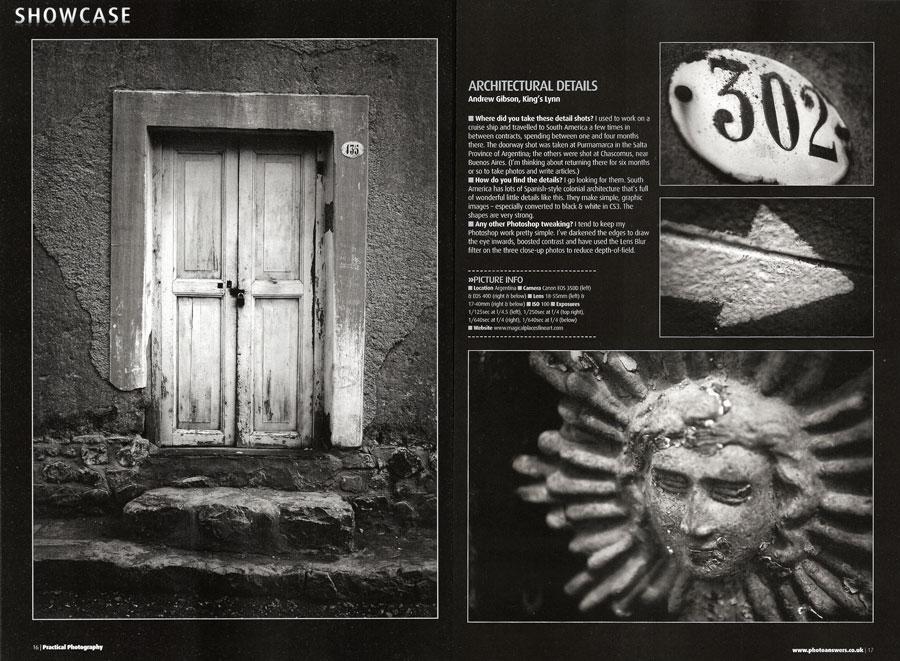 Photos published in photography magazine