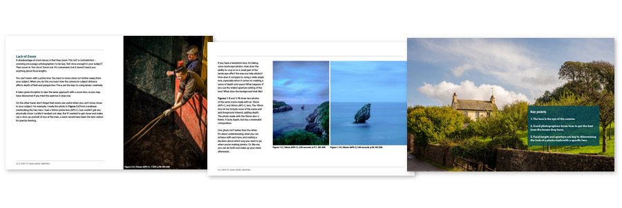5 Steps to Using Lenses Creatively ebook pages