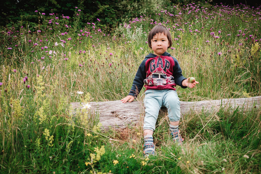 Photograph young children outdoors