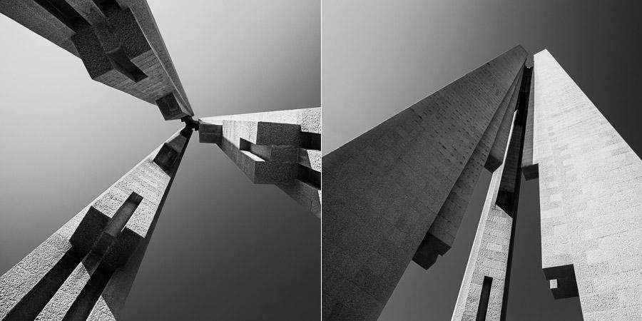 Converging verticals in photography
