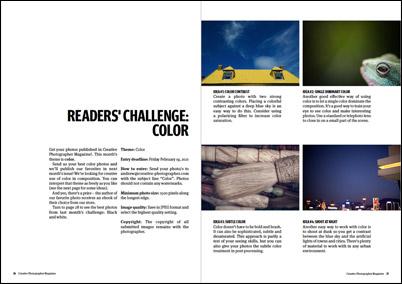 Creative Photographer Magazine challenge