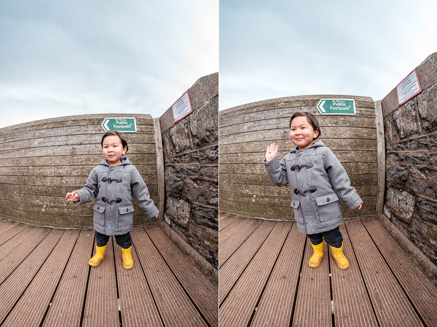 Photographing kids with fisheye lenses